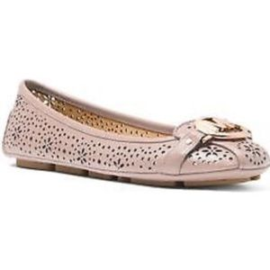MK Fulton floral perforated leather
